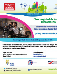Flyer – Clase Magistral - Santo Domingo